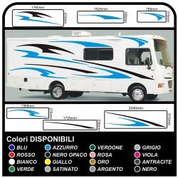 AUTOCARAVANA gráficos de vinilo pegatinas calcomanías de rayas caravana CARAVANA Autocaravana - gráficos 01 KIT COMPLETO de