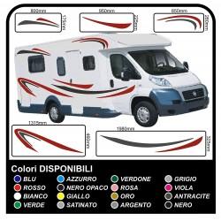 MOTORHOME graphics vinyl stickers decals stripes Set CAMPER VAN CARAVAN Motorhome - graphics 04