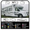 MOTORHOME graphics vinyl stickers decals stripes Set CAMPER VAN CARAVAN Motorhome - graphics 03