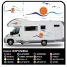 adesivi per CAMPER ROULOTTE CARAVAN grafica in vinile SOLE GABBIANI MARE CIELO kit completo TOP QUALITY - grafica 05