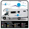 stickers CAMPER van CARAVAN CARAVAN graphics vinyl SUN SEAGULLS, SEA and SKY complete kit TOP QUALITY - graphics 06