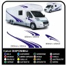 MOTORHOME graphics vinyl stickers decals stripes Set CAMPER VAN CARAVAN Motorhome - graphics 08