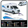 stickers CAMPER van CARAVAN CARAVAN graphics vinyl SUN SEAGULLS, SEA and SKY complete kit TOP QUALITY - graphics 09