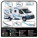 stickers CAMPER van CARAVAN CARAVAN graphics vinyl SUN SEAGULLS, SEA and SKY complete kit TOP QUALITY graphics - 10