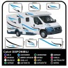 stickers CAMPER van CARAVAN CARAVAN graphics vinyl SUN SEAGULLS, SEA and SKY complete kit TOP QUALITY graphics - 10