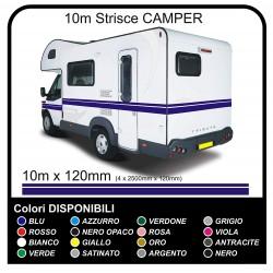 Aufkleber für WOHNMOBIL-und VINYL-STREIFEN 10-METER für WOHNMOBILE VAN CARAVAN Horsebox bänder, selbstklebende camper - grafik
