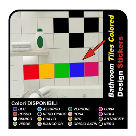 18 adhesives for tiles 20x20 cm Decor Stickers Tiles Kitchen and bathroom