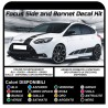 Stickers for FORD Focus ST MK3 COMPLETE KIT ADHESIVE STRIPES to the SIDE AND the HOOD the NEW FOCUS TURBO RS 1.6 1.8 2.0