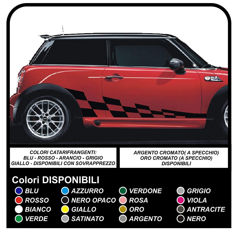 Adhesive Side Mini Cooper Graphics Car Checkered Stripes Mini Checker Graphics Cooper S One Jcw 14 16