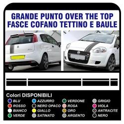 bandes-bonnet toit et le couvercle de coffre pour FIAT GRANDE PUNTO ABARTH stickers bandes point X4 1.2 1.4 1.6 1.8 2.0