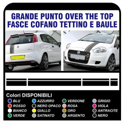 stripes-bonnet roof and boot lid for FIAT GRANDE PUNTO ABARTH stickers stripes point X4 1.2 1.4 1.6 1.8 2.0