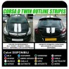 stickers for the Bonnet and Roof of the Opel Corsa D VXR TWIN Viper Stripes car graphics decals stickers B C 1.2 1.4