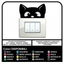 COMPLETE Kit OF 6 STICKERS for switch plates, Adhesive Cat Adhesive Wall Decoration Bedroom dining Room Kitchen Living room