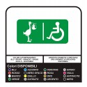 signs toilet WC bathroom STICKER baby changing facilities and disabled facilities FOR PROFESSIONAL USE