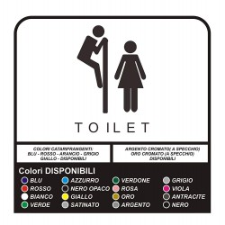 2 stickers, toilet Wall Stickers, Stickers Murals, Funny sticker toilet for shops and commercial premises