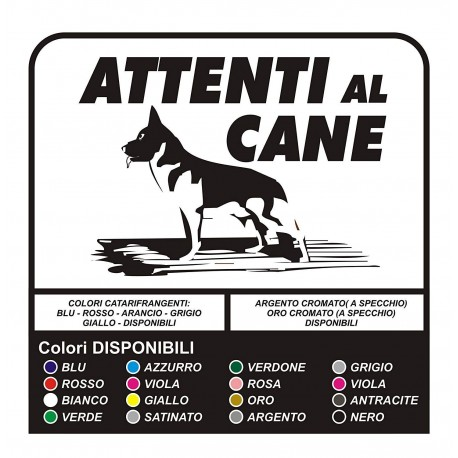 adhesive BEWARE of THE DOG, cm 30x25 - outdoor, resistant to atmospheric agents and UV rays - WITHOUT a BACKGROUND