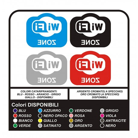 """4 Stickers to showcase the """"WiFi"""" area, bar, local, Club, office, shop, for windows and shop windows - SUPERIOR-QUALITY"""