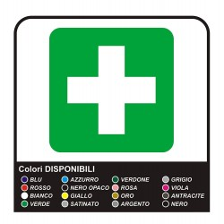 2 stickers for first Aid box no.1 cm 10x10 + 20x20 cm - superior Quality film PROFESSIONAL