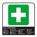2 stickers for first Aid box no.1 cm 10x10 + 20x20 cm - superior Quality film PROFESSIONAL