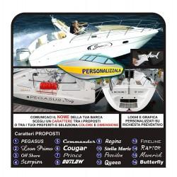 2 Pegatinas de nombres de barcos barco jetski yate de calcomanías para barco de vela barco barco de vela náutica
