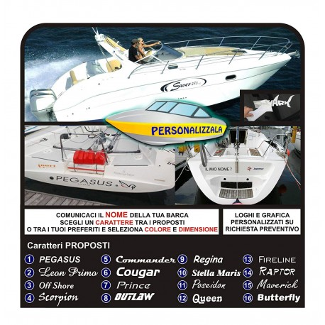 2 Stickers BOAT names boat jetski yacht decals for boat sailing boat sailing ship nautical