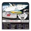 2 Adesivi nome BARCA motoscafo moto d'acqua yacht  adesivi per motoscafo barca a vela veliero nautica