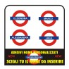 STICKERS NAME THE UNDERGROUND TUBE, NEW CUSTOM NEW (4 STICKERS)