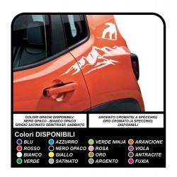 Stickers side for Jeep Renegade mountain and snowboard sticker decal aufkleber NEW