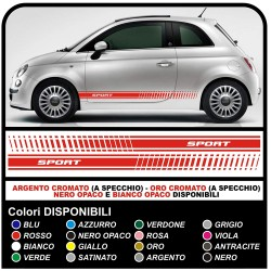 Stickers Fiat 500 Sport Adhesive Strips Fiat