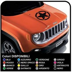 adhésif bonnet jeep renegade star consommé autocollant jeep renegade et wrangler