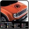 adhesivo capó del jeep renegade estrella consume etiqueta engomada de la jeep renegade y wrangler