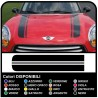 stickers hood mini cooper Stripes Rally Car Viper kit adhesive stripes COUNTRYMAN John Cooper the ONE with ALL the MODELS