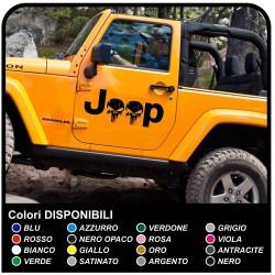 côté adhésif jeep star militaire consommé Crâne Willys US Army autocollants de voiture Tuning stickers porte crâne