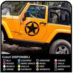 adesivi laterali STELLA militare consumata per Jeep WRANGLER RENEGADE e WILLYS offroad DEFENDER