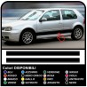 VOLKSWAGEN VW GOLF 4 stickers side stripes (full set) side bands golf IV volkswagen golf