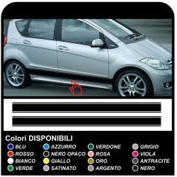 stickers side for MERCEDES BENZ A CLASS w169 adhesive strips A-class amg