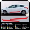 Sticker Set 2011 Ford Focus ST Stripes Car Decals on the lower section stickers ford focus st f