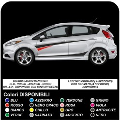 stickers FORD FIESTA MK7 / 8 and Graphics Set Stickers Stripes FIESTA decals car side straps for ford FIESTA