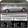 Stickers for Mercedes cla cl sl slk c63 - 507 AMG side straps strips for mercedes-Adhesive side for mercedes a complete Set