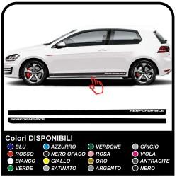 VW GOLF V-VII GTI Performance des Bandes Latérales autocollant Set 3 & 5 portes, golf 5, 6 et 7 stickers volkswagen golf