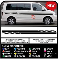 VOLKSWAGEN VW t4/t5 EVO stickers side Stripes sticker Set volkswagen ford transit doblo truck ducato fiat van