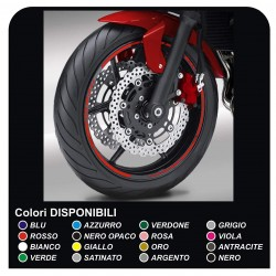 llantas de ruedas de moto tiras adhesivas para DUCATI, YAMAHA, SUZUKI, KAWASAKI, HONDA, BMW