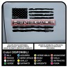 stickers jeep renegade american flag worn US ARMY stickers for the door