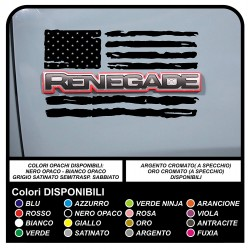 stickers jeep renegade american flag worn US ARMY stickers for car door 4X4 off road