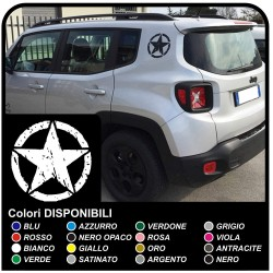 Decals renegade decals STAR MILITARY US ARMY for jeep renegade-worn effect to the rear