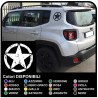 Adesivi renegade adesivi STELLA MILITARE US ARMY per jeep renegade effetto consumato per montante posteriore